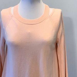 Blush Pink Cold Shoulder Sweater by LOFT ~ Medium